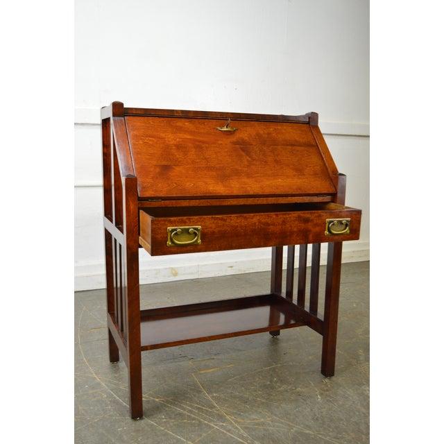 Danner Antique Mission Style Mahogany Slant Lid Writing Desk - Image 9 of 10