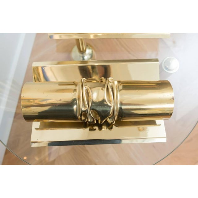 Brutalist Italian Brass Sconces - A Pair - Image 3 of 6