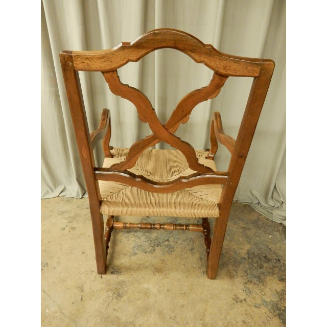 Mid 19th Century 19th Century French Provincial Armchair W/Rush Seat For Sale - Image 5 of 6