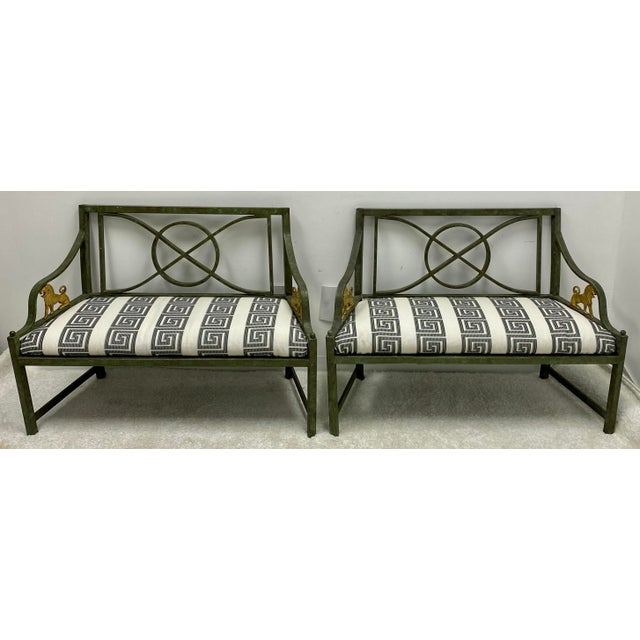 Pair of Neo-Classical Style Benches / Settees For Sale - Image 9 of 12
