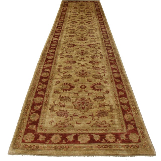 RugsinDallas Peshawar Hand Knotted Wool Runner - 2′6″ × 10′5″ - Image 2 of 2