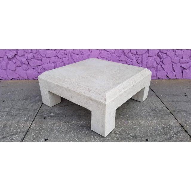 Vintage Postmodern Plaster Coffee Table For Sale - Image 4 of 13