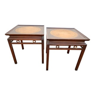 Pagoda Ming Style Side Tables - a Pair For Sale