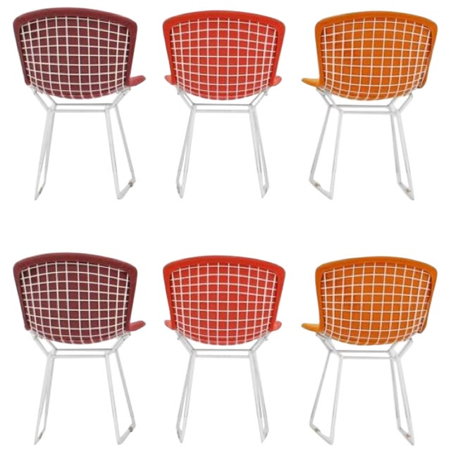 Harry Bertoia for Knoll International Early Production Wire Chairs - Set of 6 For Sale