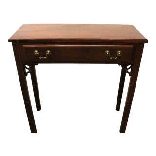 20th Century Traditional Ethan Allen Mahogany Console Table For Sale