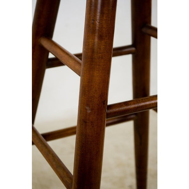 1900s English Traditional Mahogany Bar Stools - a Pair For Sale - Image 10 of 13