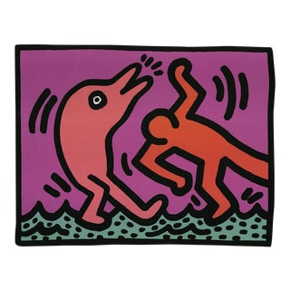 Keith Haring, Pop Shop V, Edition: 2500, 1989, Offset Lithograph For Sale