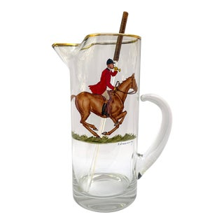 Vintage Abercrombie & Fitch Hand-Painted Drinks Pitcher For Sale