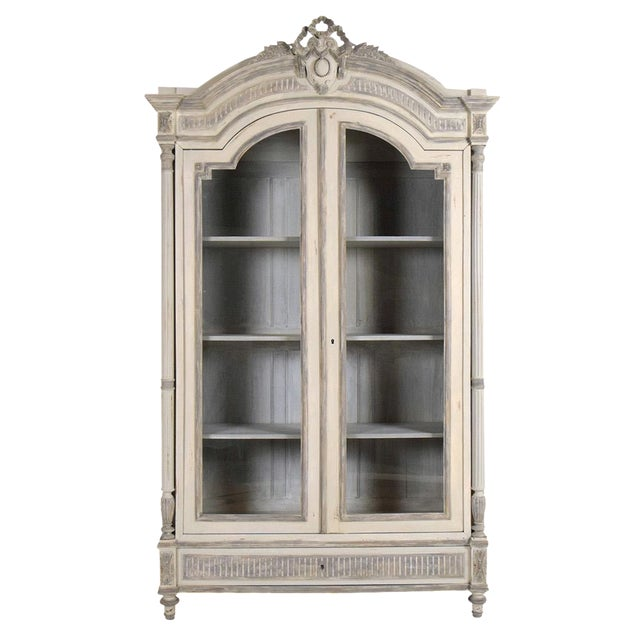 French Louis XVI Armoire-Style Bookcase - Image 1 of 10