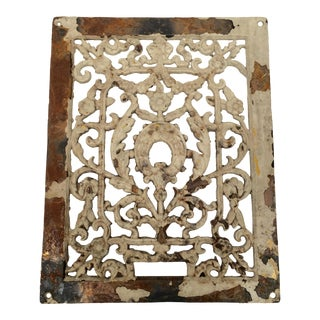 Antique 1800s Cast Iron Register Grate