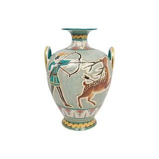 Large Deruta Pottery Sgraffito Vase For Sale