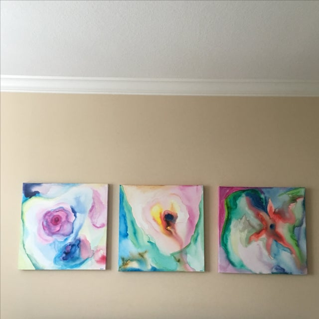 Original Acrylic Abstract Paintings - Set of 3 - Image 3 of 6