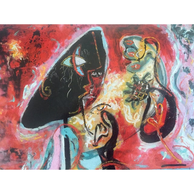 "Paper Jackson Pollock Foundation Abstract Expressionist Collector's Lithograph Print "" the Moon - Woman "" 1942 For Sale - Image 7 of 13"