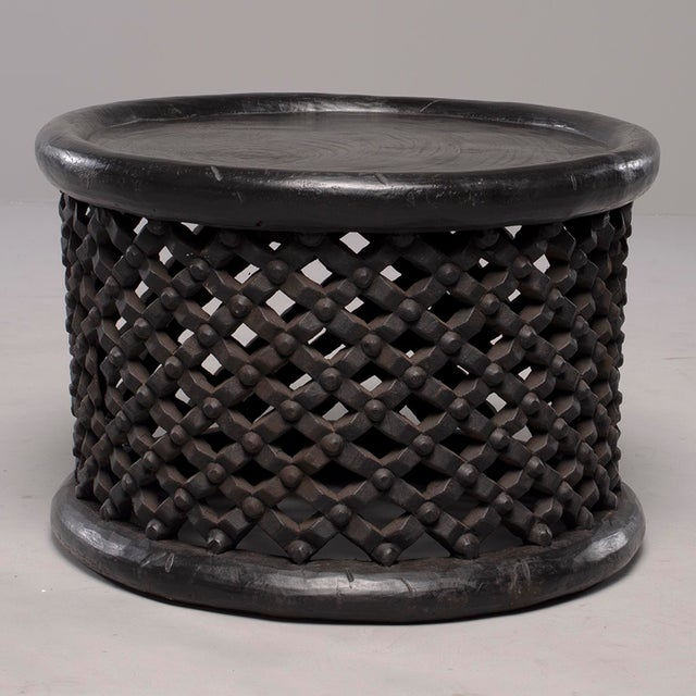 African Bamileke Carved Wood Table or Stool For Sale - Image 4 of 8