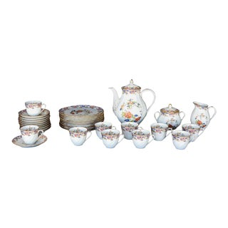 Early 20th Century French Tea Set by Bernardaud Limoges - 33 Piece Set For Sale