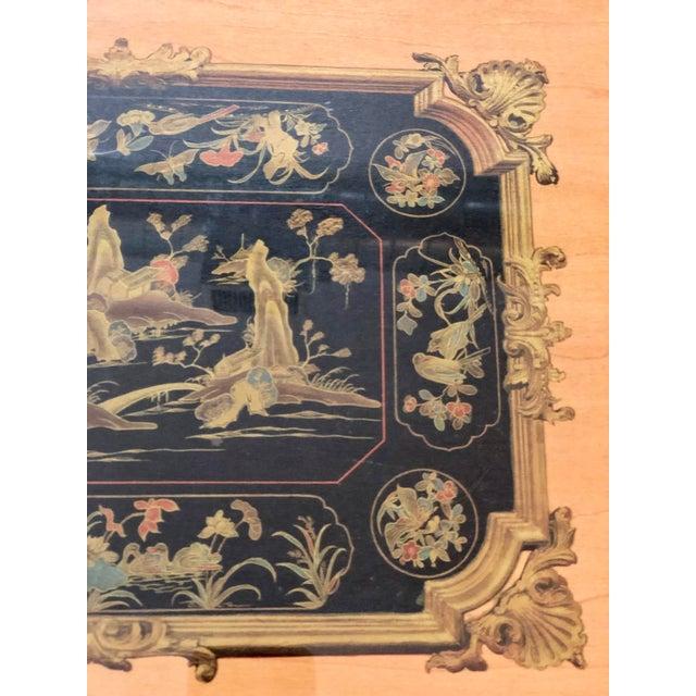 """Veneer Vintage Turner Wall Accessories. Asian Landscape Scenes on Veneer """"Lacca Cinese (Sec. Xviii)"""" For Sale - Image 7 of 8"""