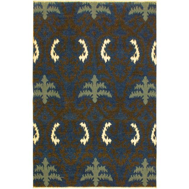 Blue Cianna Modern Ramonita Blue/Ivory Wool & Viscouse Rug - 4'1 X 6'3 For Sale - Image 8 of 8