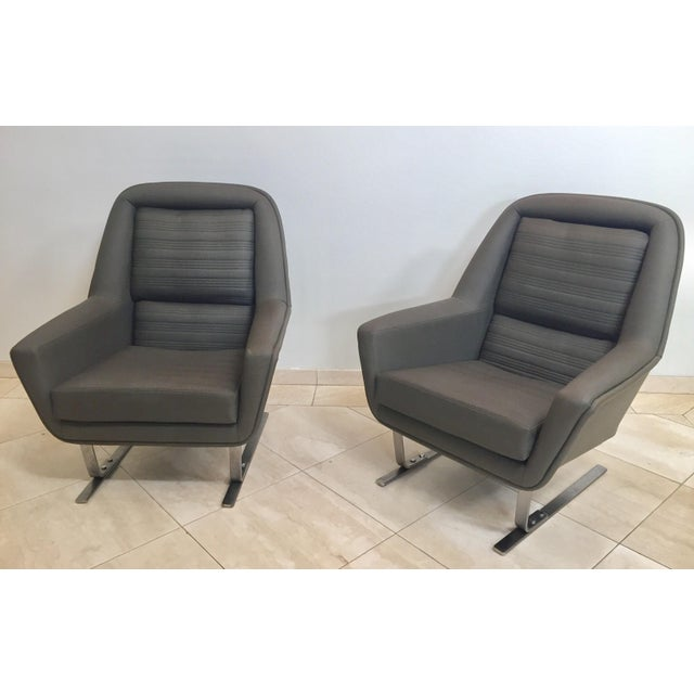 1970s Modernist Cantilever Club Lounge Chairs by Augusto Bozzi - a Pair For Sale - Image 12 of 12
