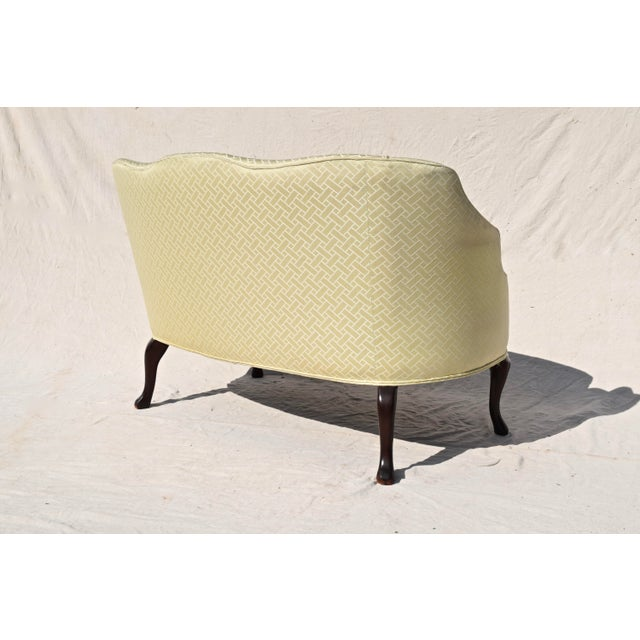 Curved Camel Back Demi Settee For Sale - Image 10 of 14