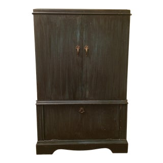 20th Century Traditional 3-Door Standing Wood Cabinet For Sale