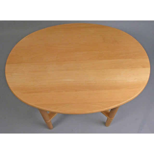 1960s Pair of Oval Danish Tables by Haslev For Sale - Image 5 of 8