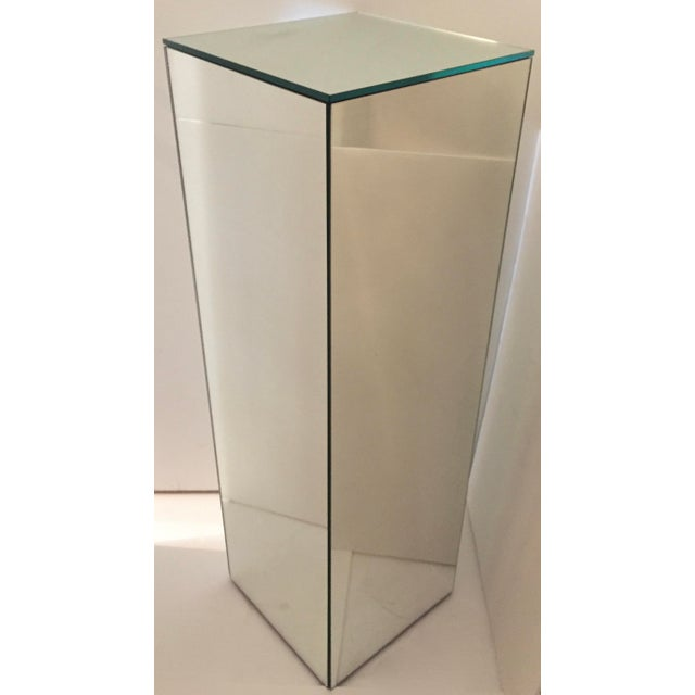 Vintage Tall Mirrored Pedestal For Sale - Image 4 of 4