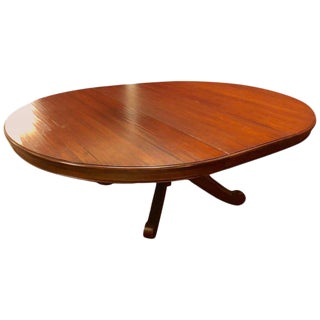 Canadian Made Single Pedestal Dining or Centre Table For Sale