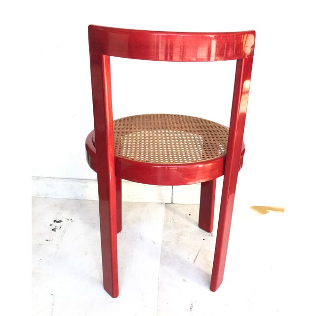 Wood Vintage Italian Dining Chairs in the Manner of Scarpa For Sale - Image 7 of 12