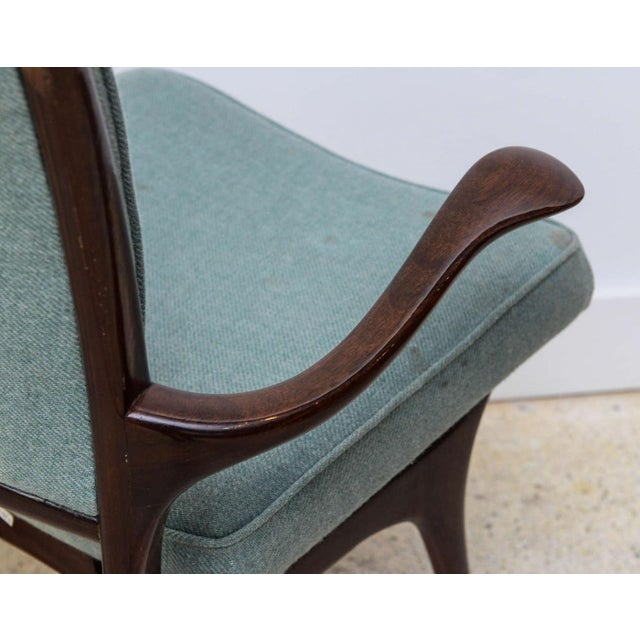 Set of Four American Modern Dark Walnut Dining Chairs, Vladimir Kagan For Sale In Miami - Image 6 of 8