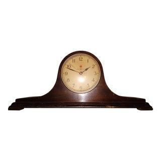1950s Vintage G.E. Telechron Mantle Clock For Sale