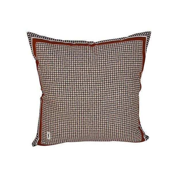 Yves Saint Laurent YSL 1970s Silk Scarf Pillow - Image 1 of 5