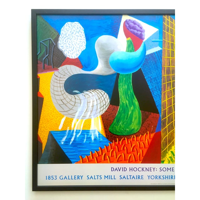 """This David Hockney rare vintage 1993 """" The Other Side """" lithograph print large custom framed collector's Pop Art..."""