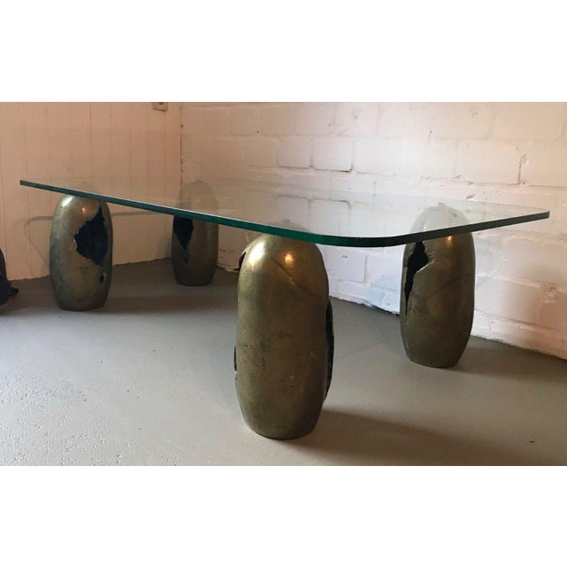 Metal Bronze Sculpture Coffee Table. France, 1970s For Sale - Image 7 of 7