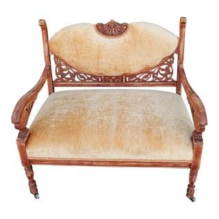 Victorian Velvet Upholstered Settee