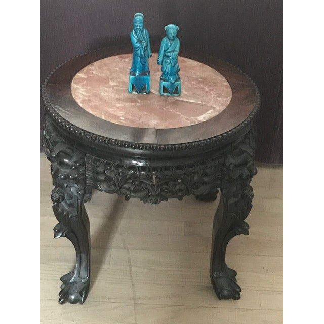 Chinese Antique Marble Side Table - Image 6 of 7