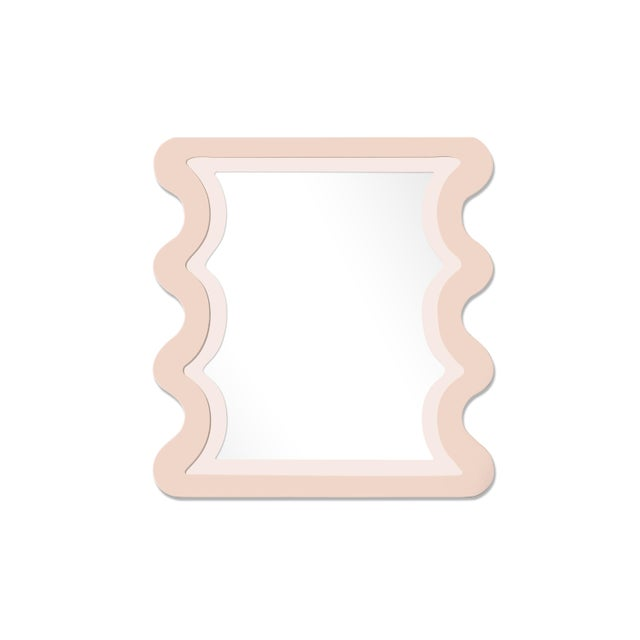 Contemporary Fleur Home x Chairish Carnival Mystic Rectangle Mirror in Pink Ground, 24x36 For Sale - Image 3 of 3