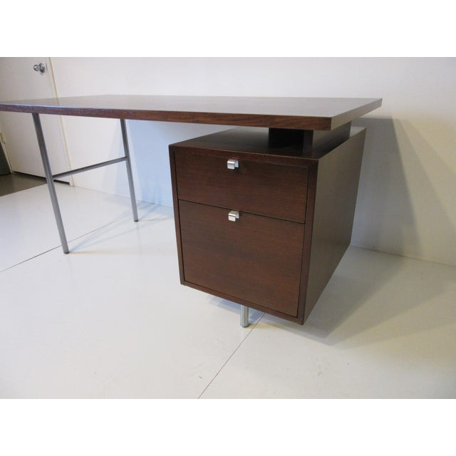 Mid-Century Modern George Nelson for Herman Miller Walnut Desk For Sale - Image 3 of 10