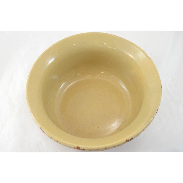 """Roseville Pottery Roseville Medium Farmhouse Brown Spongeware 9"""" Bowl For Sale - Image 4 of 5"""