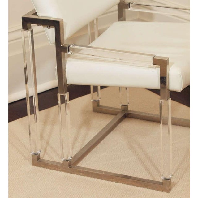 "Charles Hollis Jones ""Metric Line"" Chair & Ottoman - A Pair For Sale - Image 5 of 11"