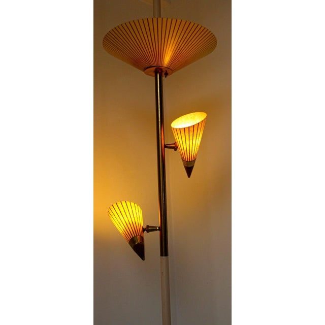1950s Adjustable Vintage Three Shades Extension Pole Lamp by Gerald Thurston For Sale - Image 9 of 13