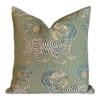 Clarence House Tibet Basil Pillow Cover 22x22 For Sale