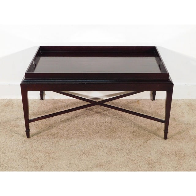 Barbara Barry for Baker Furniture Company Java Finish Coffee Table For Sale - Image 10 of 10