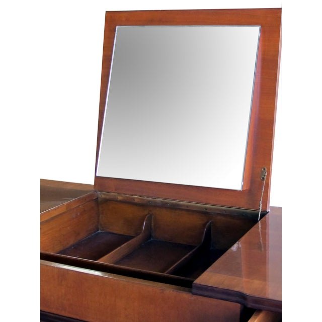 John Widdicomb A Handsome and Rare American Mid-Century Walnut Dressing Cabinet by John Widdicomb For Sale - Image 4 of 8