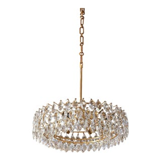Vintage Austrian Palwa Crystal Chandelier For Sale