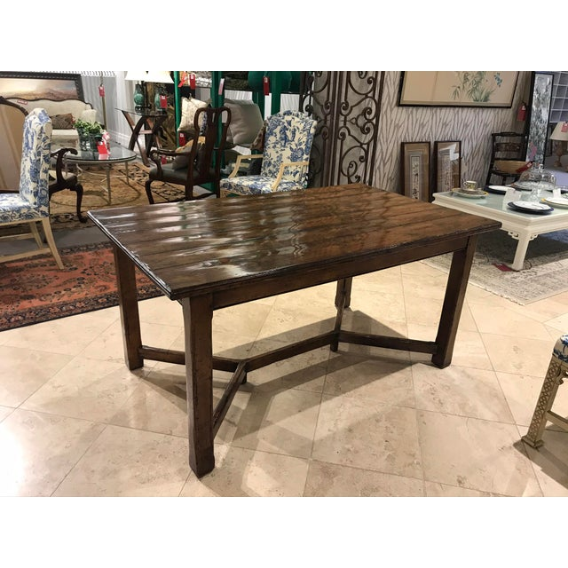 Rustic Guy Chaddock Wood Dining Table For Sale - Image 3 of 12