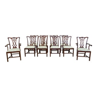 Henkel Harris Model 107 Mahogany Dining Room Chairs - Set of 10 For Sale