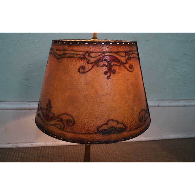 Remington Antique Brass Table Lamp For Sale - Image 4 of 10