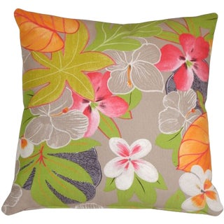 Contemporary Hawaii Garden Floral Pillow - 20x20 For Sale