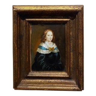 "Ida Calzolari ""Portrait of a 19th Century Woman"" Painting For Sale"