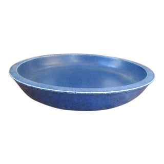 "1950s Danish Modern Eva Staehr Nielsen Saxbo Decorative Blue Bowl 7.375"" Diam. For Sale"